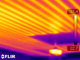 infrared image during home inspection